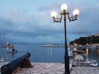 kassiopi -sailing boats -greek restaurants -evening
